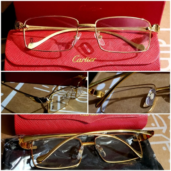 6240a25711468 Cartier Other - Cartier gold frame panther design glasses